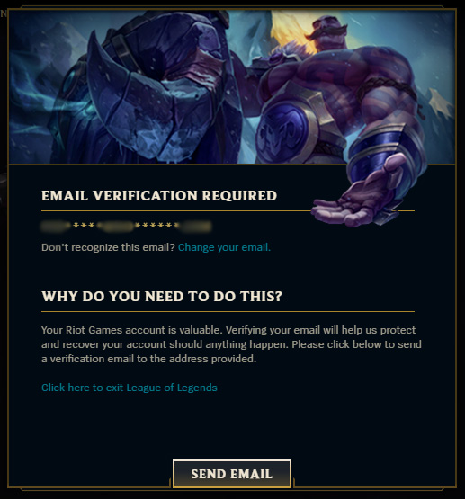 Email verification required